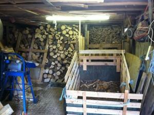 wood, stack, workaway, firewood