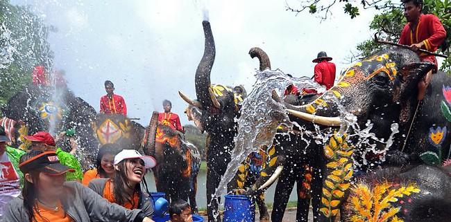 Songkran festival water thailand