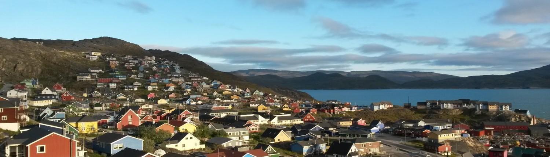 The 'big' town of Qaqortoq in southern Greenland