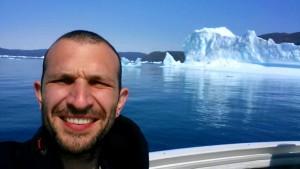 Iceberg selfie greenland volunteer budget traveller