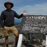 Chris at the top of Mount Katahdin