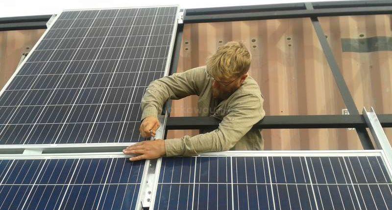 building solar panel