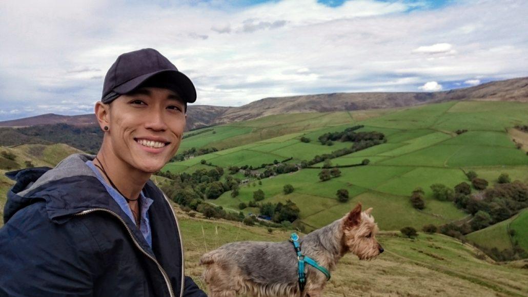 workawayer volunteer with pets hiking trek